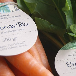 Masia Can Carbonell, organic vegetables packaging